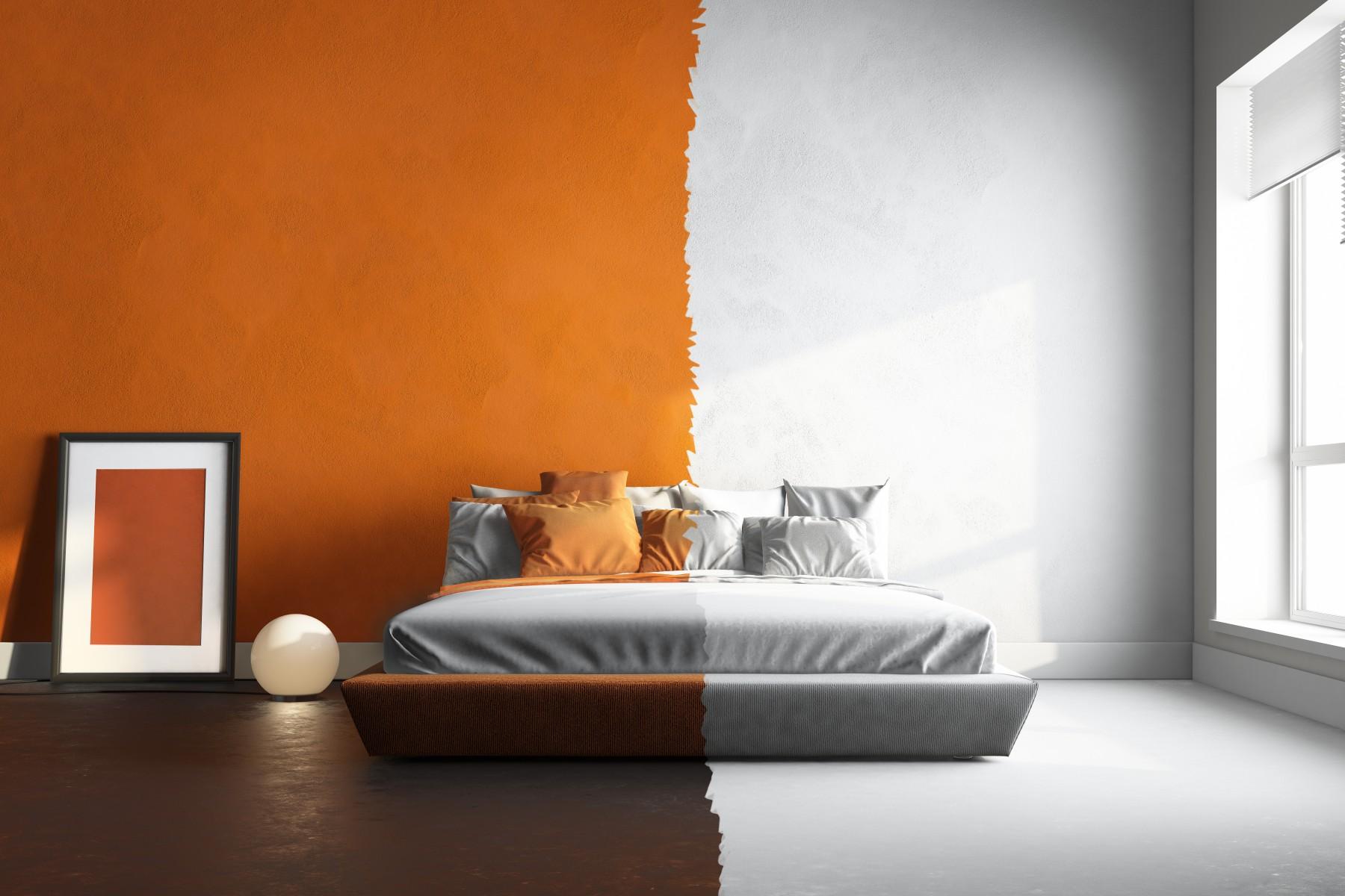 Malowanie ścian na dwa kolory